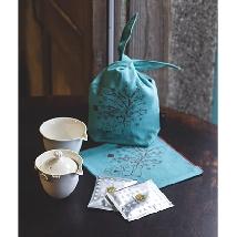 Golden Flower Traveling Tea Set
