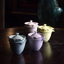 Pastel Golden Flower Teaware