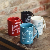 Mattock Handle Mug - Raining Cat