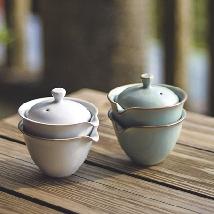 Ju Ware Golden Flower Teaware