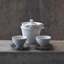 Matte Golden Flower Teaware set (2 cups)
