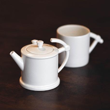 Miner's Lamp-shaped Single Tea Set
