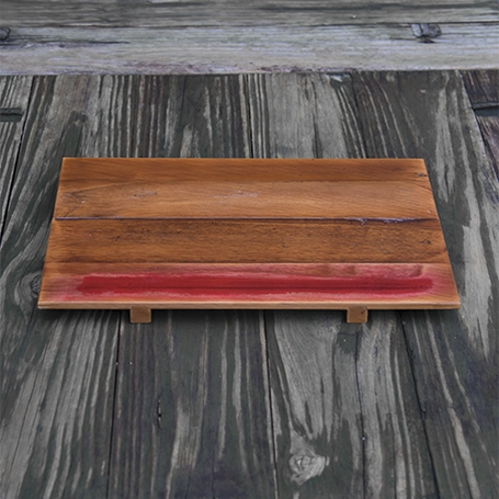 Old-material Cypress Wood Tray (Rectangular)