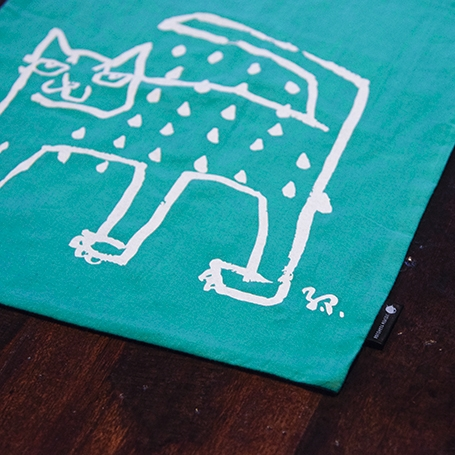 Cotton bag : Raining Cat