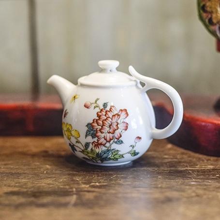 Pastel Painting Anti-Slip Teapot
