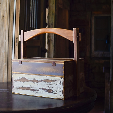 Old-material Cypress Teabox (M)
